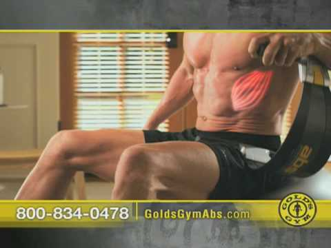 Fitness Professionals Max Wettstein & Jamie Eason demonstrate the Gold's Gym ABS Blade