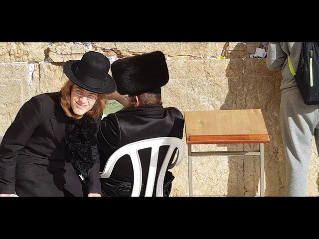 Why do Hasidic Jews wear a fur hat?  The Western Wall (Wailing Wall), Jerusalem, Israel