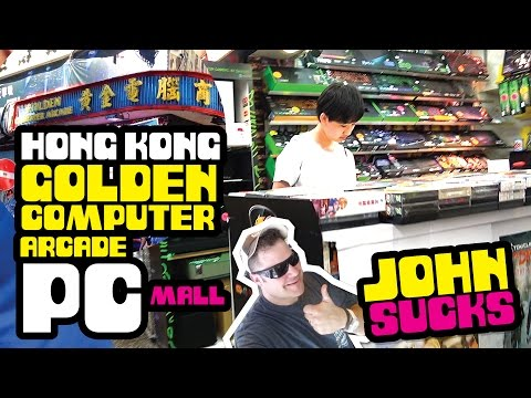 INSANE Hong Kong Gaming PC Mall Shopping Tour! Golden Computer Arcade