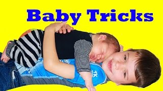 Day In The Life AllToyCollector Toby Teaches Eli Newborn Baby Tricks How To Take Care of Babies