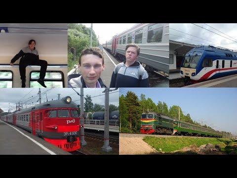 СПБ-Выборг по однопуткам   Тепловоз   Гонка с ДР1Б   Пати в пустом вагоне