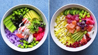 Taste the rainbow with these 3 sushi-inspired poke bowls 🌈🐟 thumbnail
