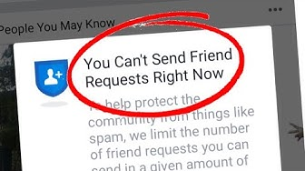 You can't send friend request right now Problem Solved