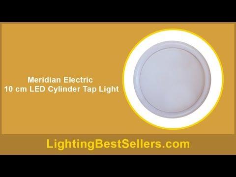 Meridian Electric 10 Cm Led Cylinder Tap Light