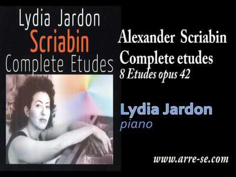Scriabin - 8 Etudes opus 42 - Lydia Jardon, piano