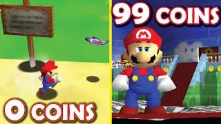 EVERY COIN makes Mario BIGGER!! [Super Mario 64 mod by Kaze]