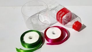 Amazing DIY from disposable plastic bottle and satin ribbon - Best ...