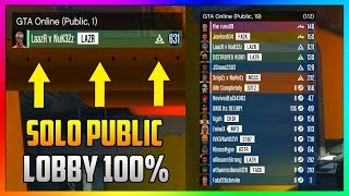 Wie Sie Mitglied Solo-Öffentliche Lobby auf Xbox One, PS4 & PC | SOLO ARBEITENDE ÖFFENTLICHE LOBBY GLITCH (GTA Online)