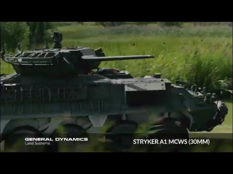 GDLS - Stryker A1 8X8 30mm Medium Caliber Weapon System (MCWS) Vehicle [360p]
