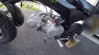 Moteur Loncin 125cc sur DAX Skyteam 50cc