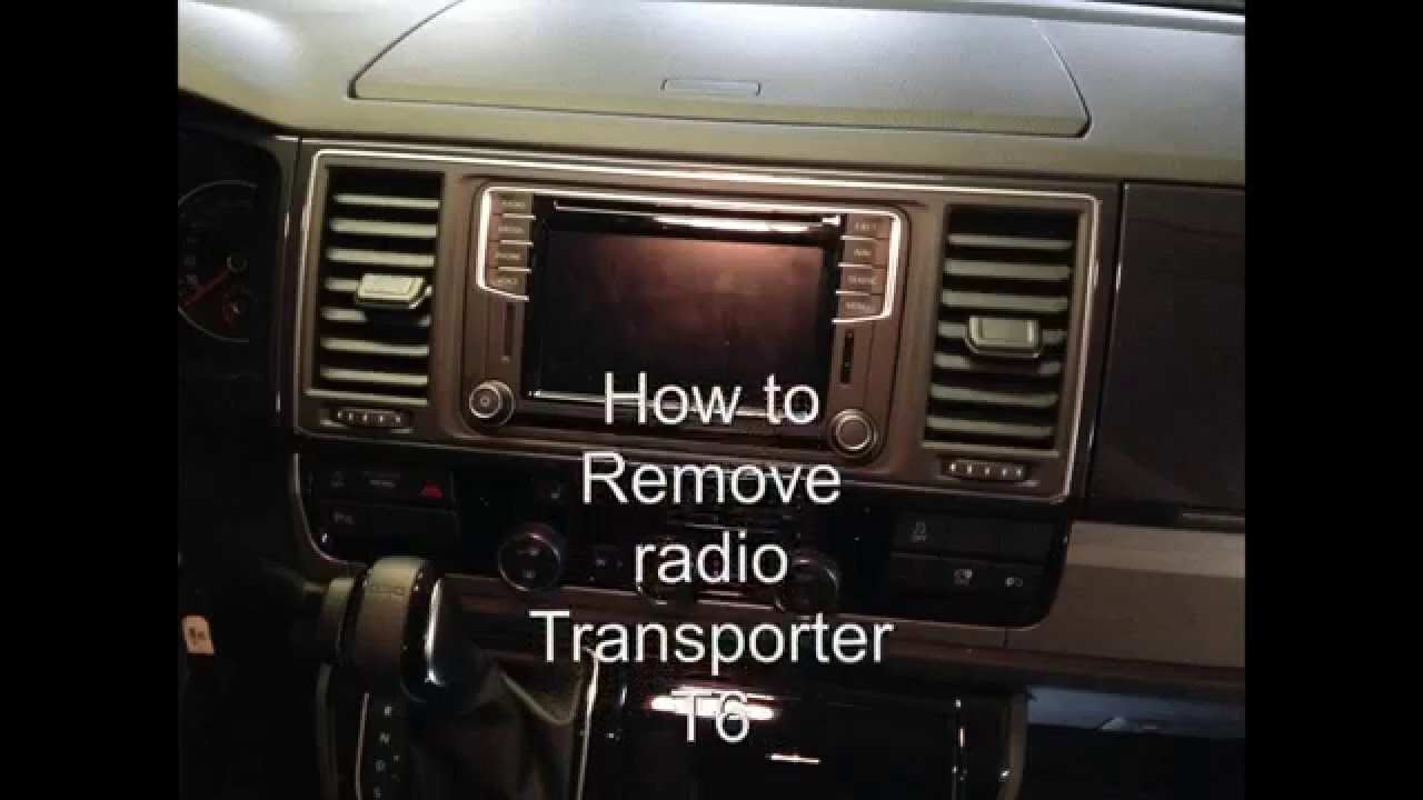 how to radio remove transporter t6 youtube