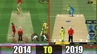 EVOLUTION of REAL CRICKET android games (2014-2019)
