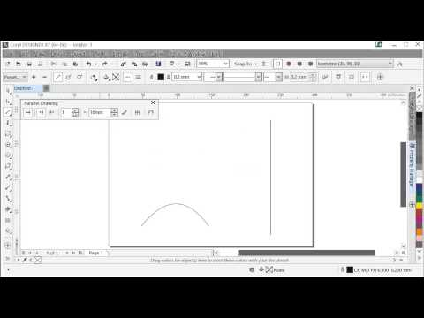 Offset drawing with the Parallel Drawing tool in Corel