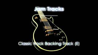 Repeat youtube video Rock Backing Track (E)