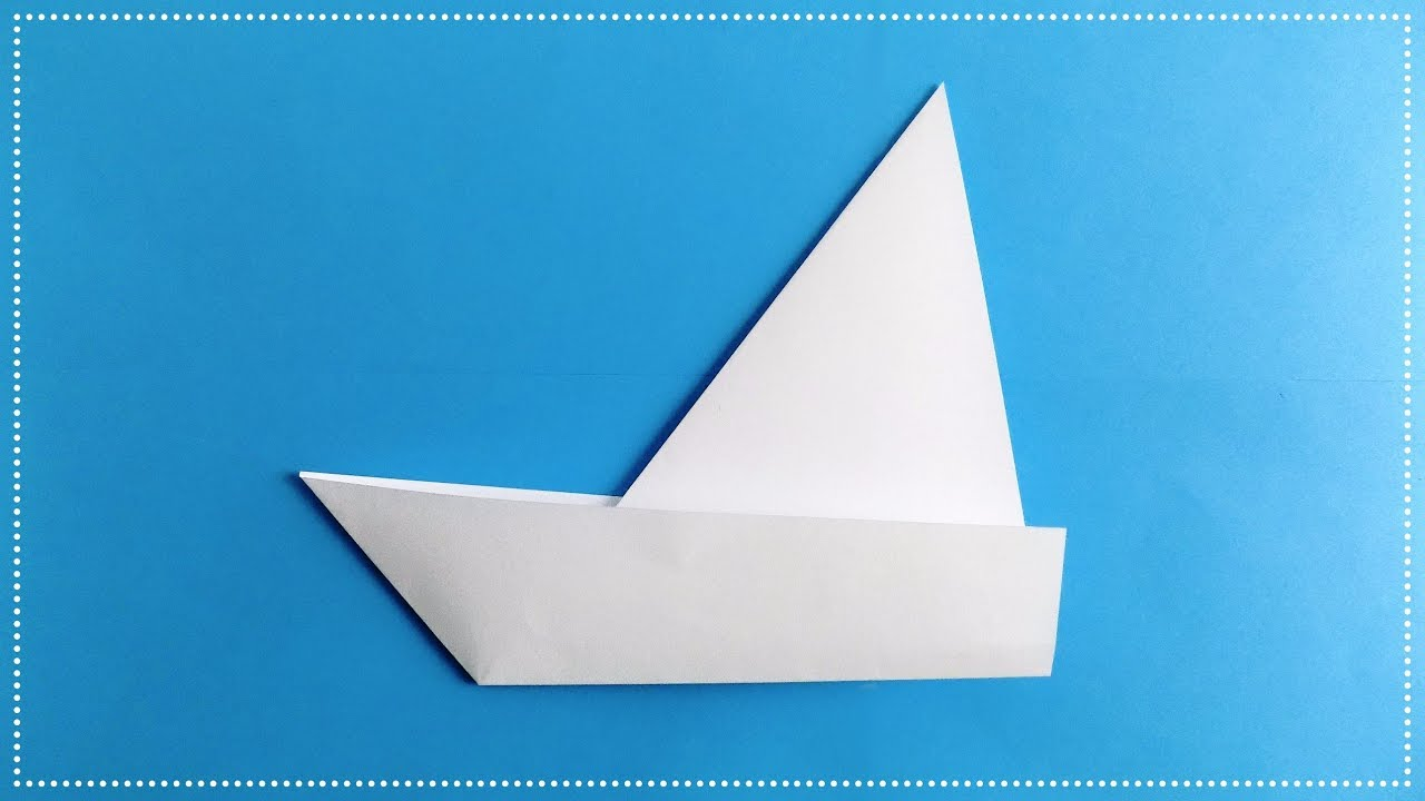 how to make a sailboat out of paper origami boat youtube