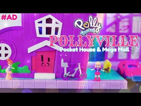 Unbox Daily: ALL NEW Polly Pocket Pollyville Pocket House & Mega Mall