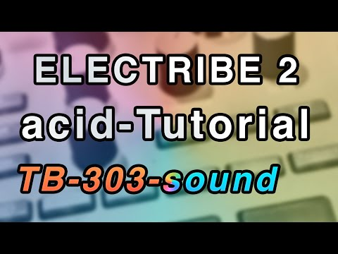 Korg Electribe 2 tutorial  Distorted  TB 303  ACID style music