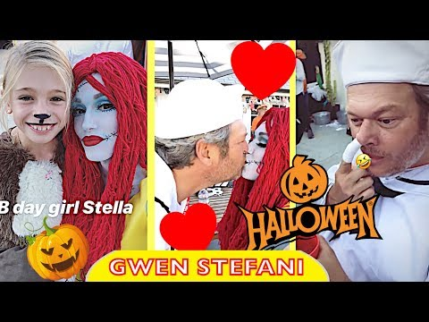 Gwen Stefani & Blake Shelton at Stella's Halloween birthday party 🎃