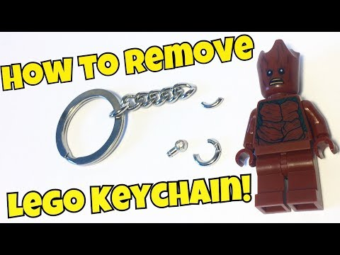 How To Remove A Keychain From A Lego Minifigure (Teen Groot)