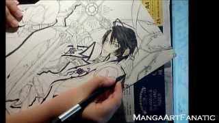 "Speed Drawing (Zess)Luca  Crossezaria from ""Uraboku"""