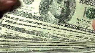 searching over six thousand dollars in 100 dollar bills hunting for rare us currency star notes