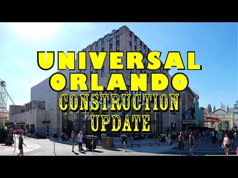 Universal Orlando Resort Construction Update 2.20.17 Signage, New Steel, & More!