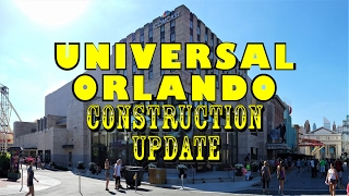 Universal Orlando Resort Construction Update 2.20.17 Signage, New Steel, More