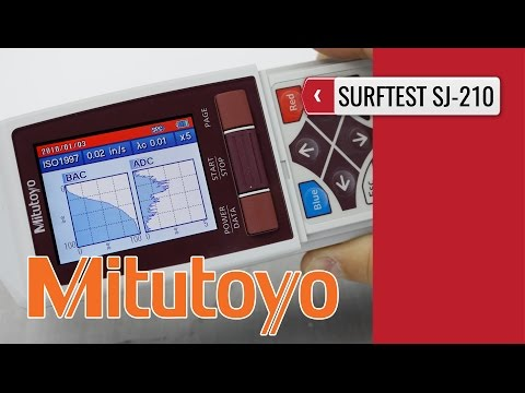 MITUTOYO SJ210: Surface Roughness Tester product video presentation