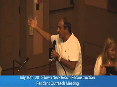 Town Neck Beach Restoration Outreach Meeting July 16th 2015 Sandwich MA