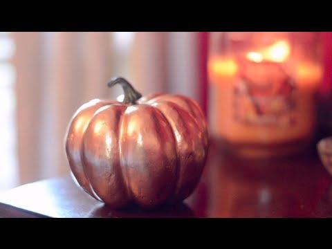 DIY Gold Metallic Pumpkins!   Simple Fall