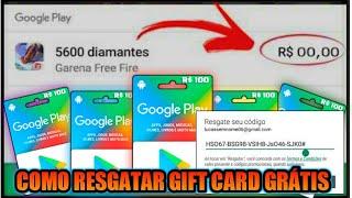 COMO RESGATAR GIFT CARDS GRÁTIS 🔥  DIAMANTES FREE FIRE