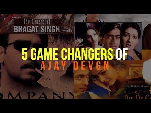 Raid Actor Ajay Devgn's Top 5 Films Of All Time!