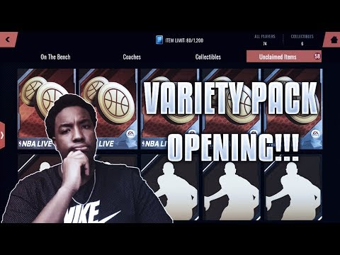 RIPPING OPEN 59 VARIETY PACKS!!! ROAD TO THE TOP NBA LIVE MOBILE 18 EP. 13!!!