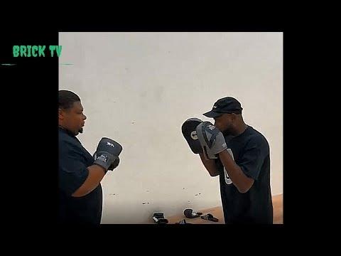 Big Narstie Boxing Pad Work