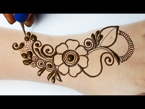 Easy Trick Arabic Mehndi Design - Easy Shaded Mehndi Design for Hands - आसान शेडेड अरेबिक मेहँदी