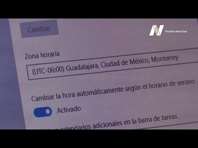 #SET #PueblaNoticias Modifique zona horario de su equipo de cómputo