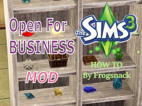 Sims 3 MOD Showcase Open For Business Savvier Seller