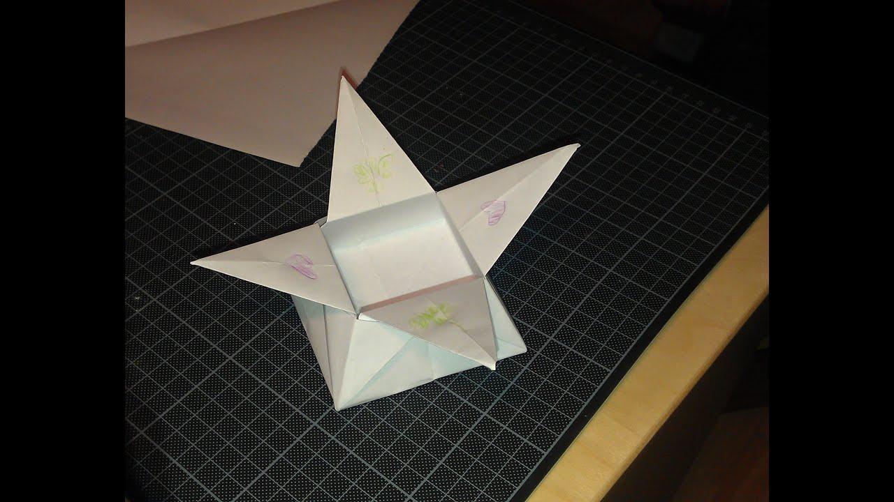 Tutorial Origami Sternschachtel