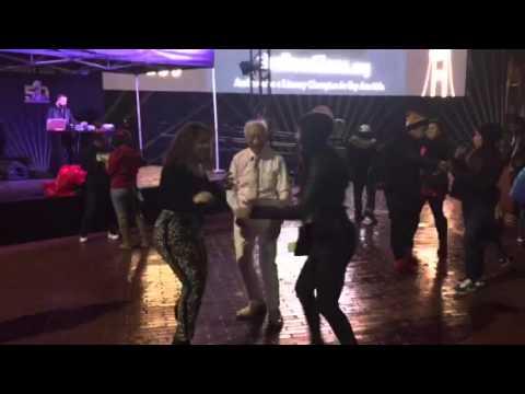 Old Guy Grind Dancing At Super Bowl City #SB50