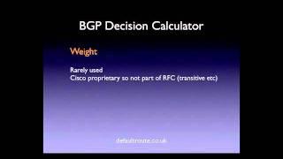 BGP Best Path Selection