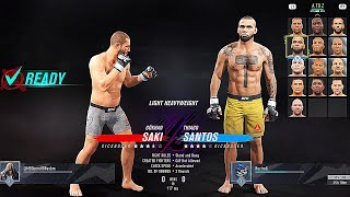UFC 4 GAME on Playstation 4 | ONLINE GAMEPLAY PS4 | GOKHAN SAKI vs. THIAGO SANTOS | BEST FIGHTS