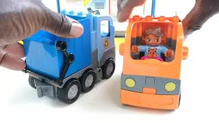 Trash Truck Vs Recycling Garbage Trucks Toys ASRM Playing Fire Station Assembly Toy No Jelly Beans