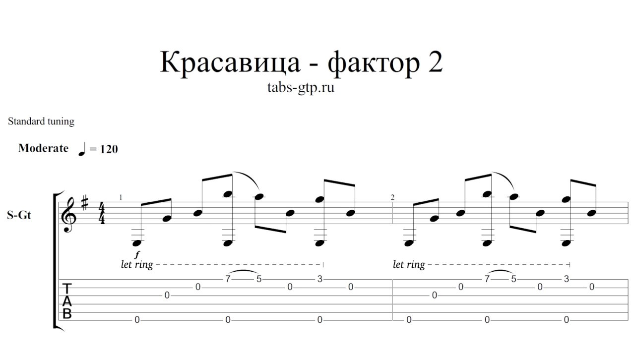 Аккорды шалава на гитаре