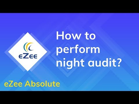How to perform night audit using eZee Absolute Hotel Management System?