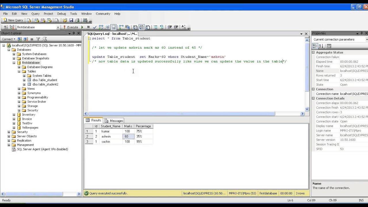 Updating a dataset in asp net