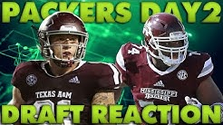 The Green Bay Packers Draft Elgton Jenkins and Jace Sternberger! Packers Fan Reactions!