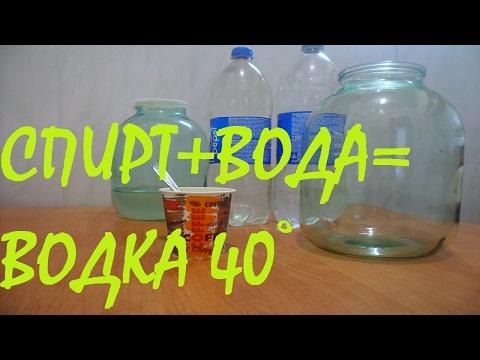 Как разбавлять спирт с водой