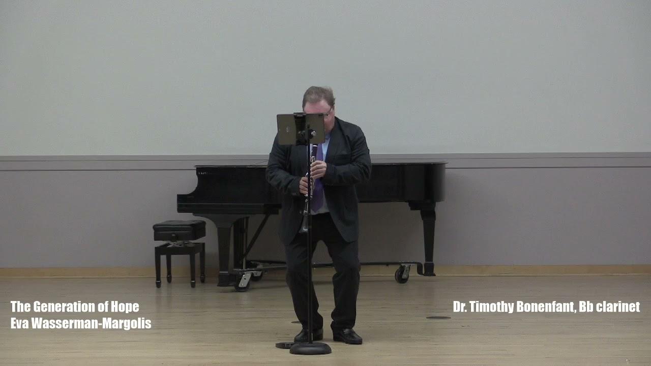 I am happy to share Clarinetist Timothy Bonenfant's performances of  my works: