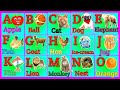A for apple,alphabets, abcd alphabets song,Phonics song,alphabets learning for kids,abcd animation