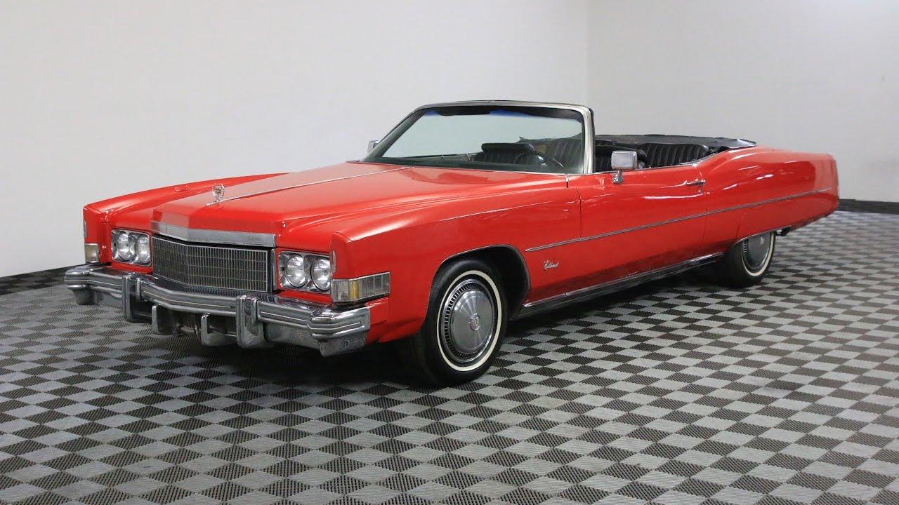 1974 Cadillac Eldorado Convertible Red Youtube 1954 El Dorado